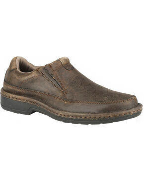 Roper Men's Slip-on Shoes, Brown, hi-res