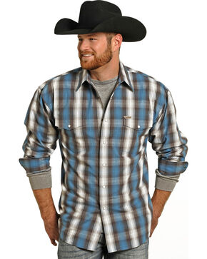 Panhandle Slim Men's Powder River Snap Front Shirt , Turquoise, hi-res