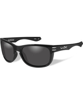 Wiley X Men's Hudson Grey Gloss Black Sunglasses , Black, hi-res