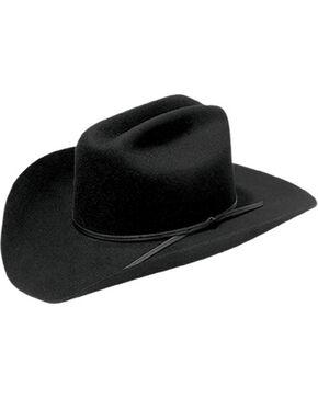Master Hatters Men's Rodeo Bill 2X Black Wool Cowboy Hat, Black, hi-res