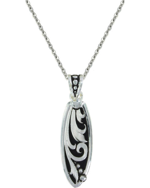Montana Silversmiths Leathercut Trailing Vine Necklace, Silver, hi-res