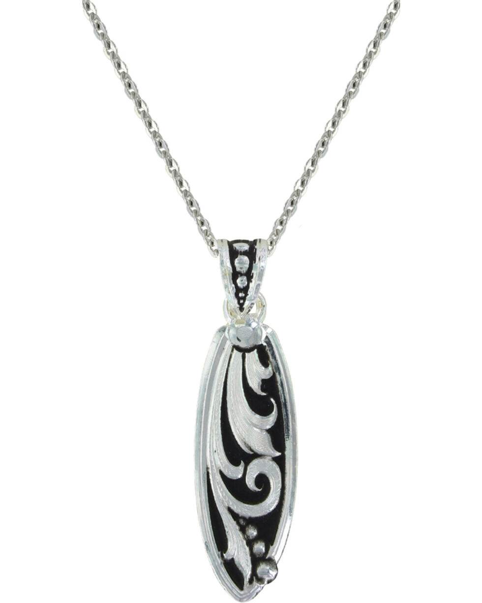 Montana Silversmiths Leathercut Trailing Vine Necklace, Silver, hi-res