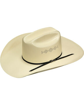 Twister Men's Ivory 8X Shantung Diamond Vent Hat , Ivory, hi-res