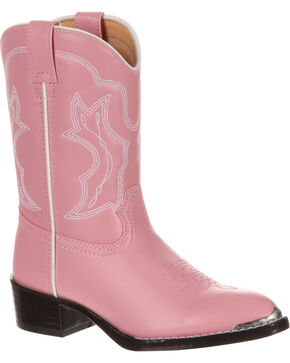 Durango Little Girls' Pink Western Boots - Round Toe, Assorted, hi-res