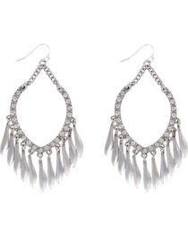 Shyanne® Women's Rhinestone Chandelier Earrings, Silver, hi-res