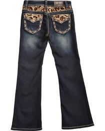 Grace in LA Girls' Cheetah Print Bootcut Jeans, , hi-res