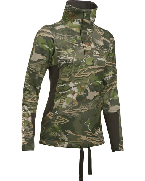 Under Armour Women's Camo Stealth Early Season 1/2 Zip Pullover , Camouflage, hi-res
