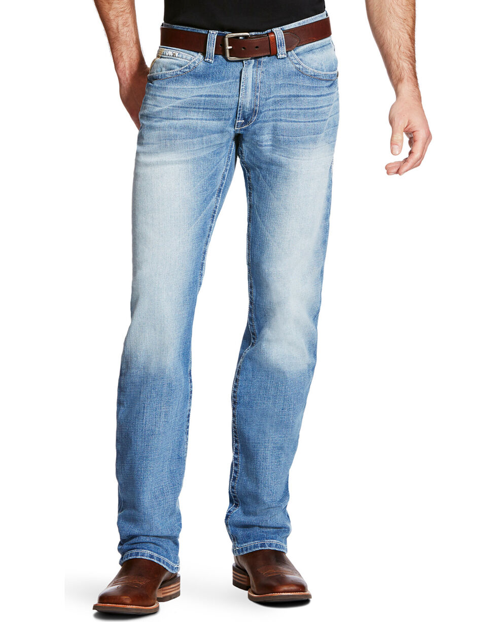 Ariat Men's Blue M2 Stirling Shasta Jeans - Boot Cut, Blue, hi-res