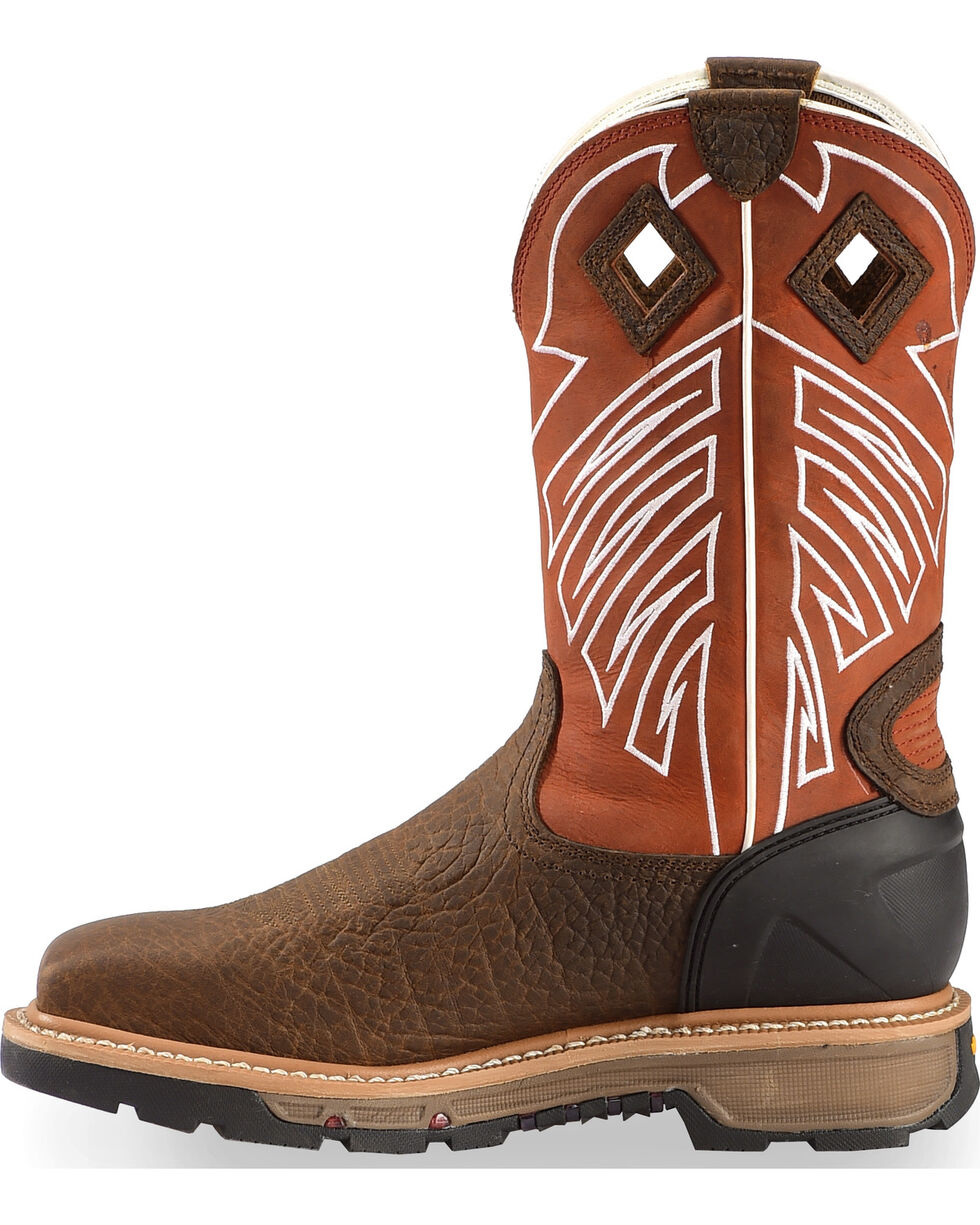 Justin Men's Waterproof Commander-X5 Steel Toe Work Boots, Brown, hi-res