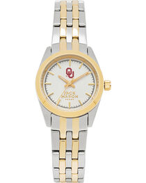Jack Mason Women's University of Oklahoma Two-Tone Bracelet Watch , , hi-res