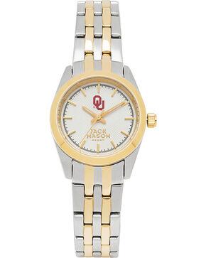 Jack Mason Women's University of Oklahoma Two-Tone Bracelet Watch , Multi, hi-res