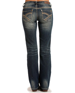 Rock & Roll Cowgirl Women's Blue Boyfriend Fit Jeans - Boot Cut , Blue, hi-res