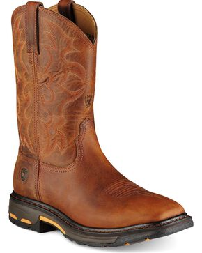 "Ariat Men's Workhog 11"" Square Toe Work Boots, Toast, hi-res"