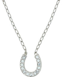 Montana Silversmiths Women's Crystal Clear Lucky Necklace, , hi-res