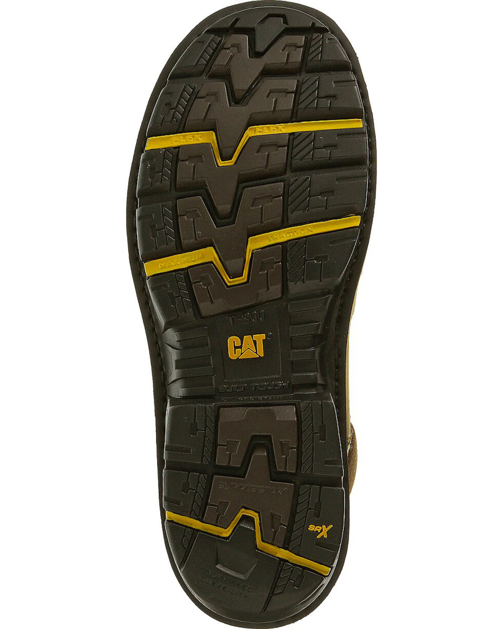 "CAT Men's Fabricate 6"" Tough WP Composite Toe Work Boots, Light Brown, hi-res"