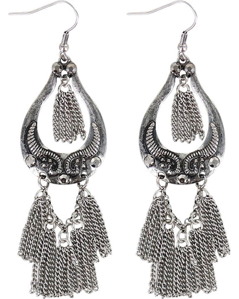 Shyanne® Women's Dangle Chain Earrings , Silver, hi-res