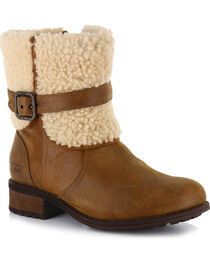 UGG Women's Brown Blayre II Short Boots - Round Toe , , hi-res