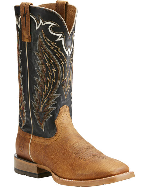 Ariat Men's Top Hand Square Toe Western Boots, Tan, hi-res