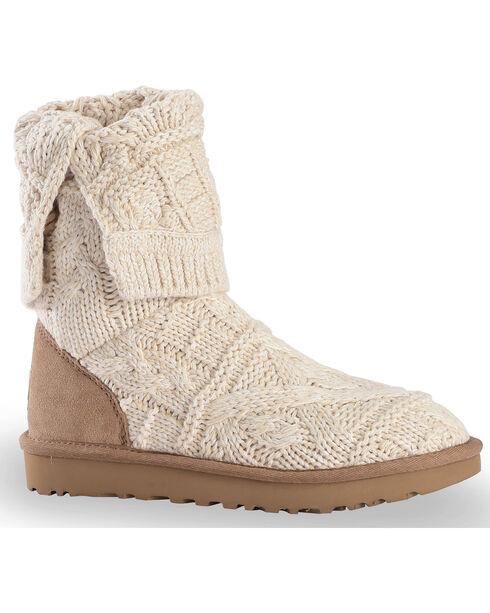UGG® Women's Kalla Knit Boots, Beige/khaki, hi-res