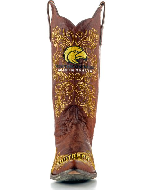 Gameday University of Southern Mississippi Cowgirl Boots - Pointed Toe, Brass, hi-res