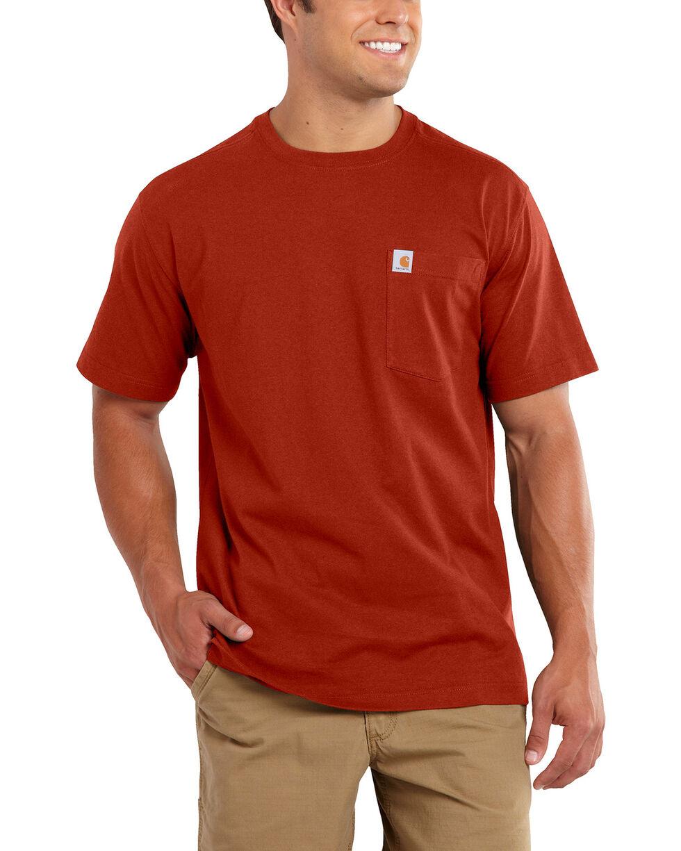 Carhartt Maddock Pocket Short Sleeve Shirt, Red, hi-res