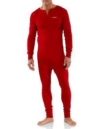 Carhartt Men's Red Midweight Cotton Union Suit - Big, , hi-res