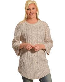 Allison Brittney Women's Cable Knit Sweater, , hi-res