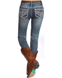 Rock & Roll Cowgirl Women's Mid Rise Skinny Jean, , hi-res