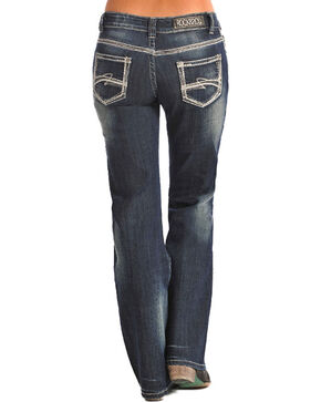 Rock & Roll Denim Women's Boot Cut Riding Jeans, Dark Blue, hi-res