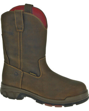 Wolverine Men's Cabor Wellington WPF Work Boots, Coffee, hi-res