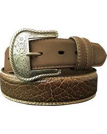 G Bar D Men's Brown Feathered Edge Leather Belt, , hi-res