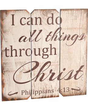 BB Ranch Philippians 4:13 Wall Plaque, No Color, hi-res