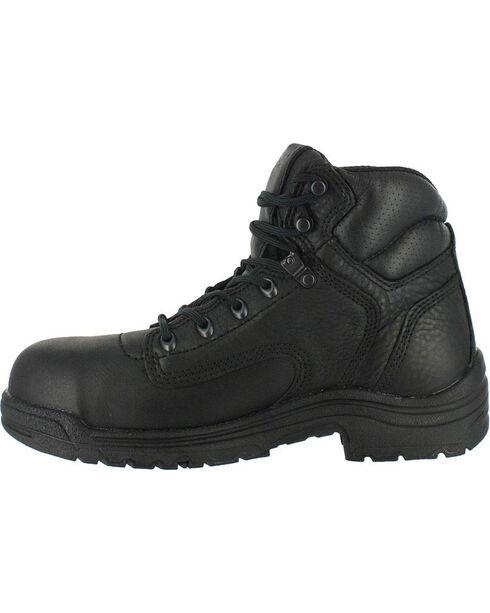 """Timberland Men's Black Titan 6"""" Work Boots - Alloy Toe , Black, hi-res"""