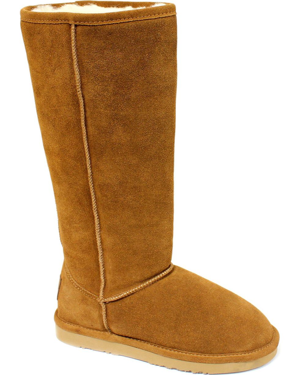 "Dije California Women's 14"" Classic Sheepskin Boots, Chestnut, hi-res"
