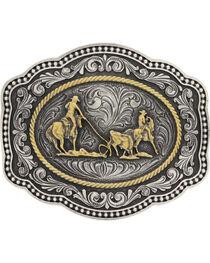 Montana Silversmiths Team Roper Buckle, , hi-res
