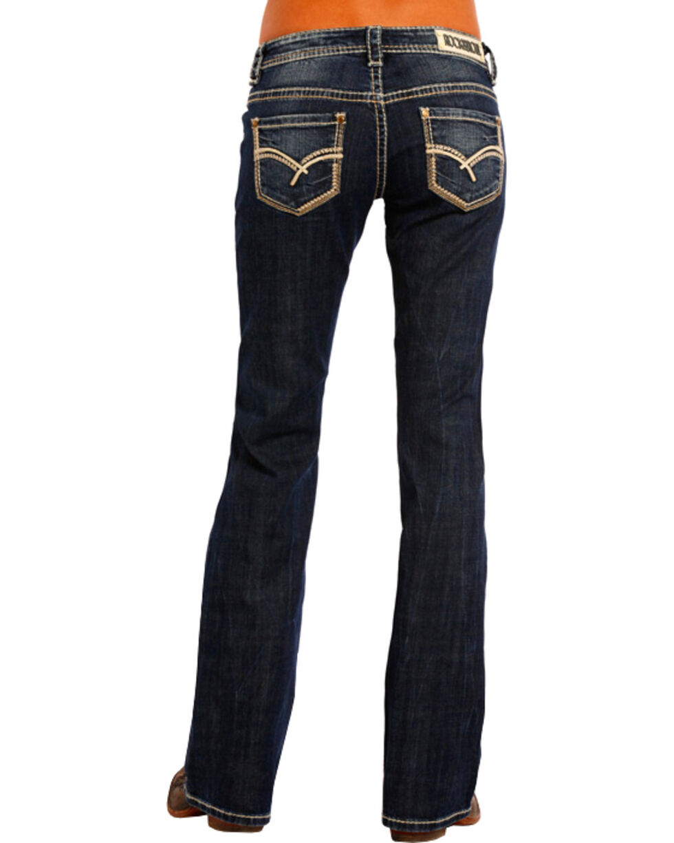 Rock & Roll Cowgirl Women's Sharp Multi-Stitch Boyfriend Jeans - Boot Cut , , hi-res
