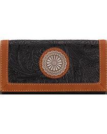Bandana by American West Dallas Black Flap Wallet, , hi-res