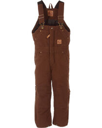 Berne Toddlers' Bark Washed Insulated Bib Overalls, , hi-res