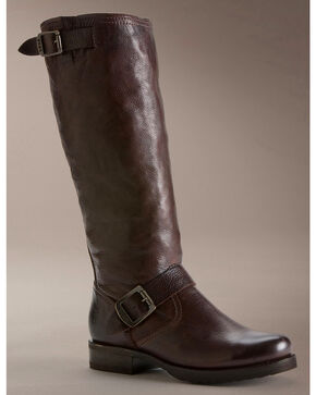Frye Women's Veronica Slouch Riding Boots - Round Toe, Dark Brown, hi-res