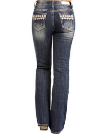 Rock & Roll Cowgirl Women's Embroidered Pocket Jeans - Boot Cut , , hi-res