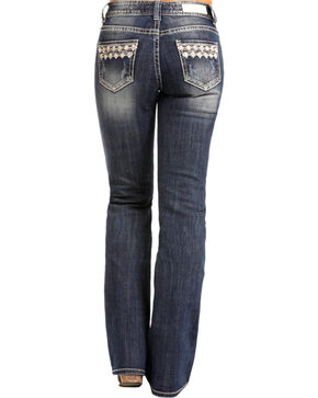 Rock & Roll Cowgirl Women's Embroidered Pocket Jeans - Boot Cut , Indigo, hi-res