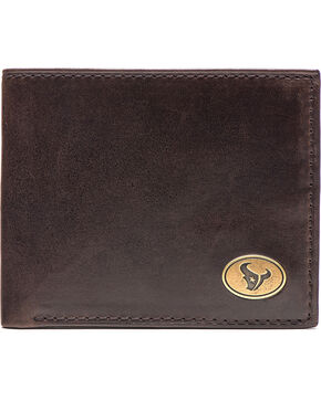 Jack Mason Men's Houston Texans Legacy Traveler Wallet , Brown, hi-res
