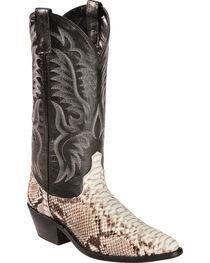 Laredo Men's Exotic Snake Western Boots, , hi-res