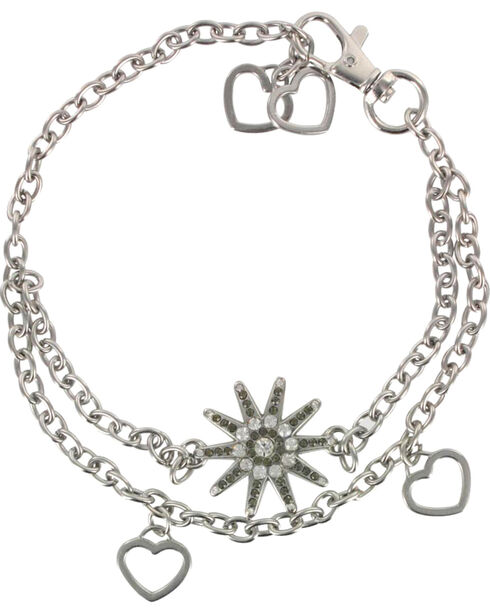 Shyanne® Women's Spur and Hearts Boot Bracelet, , hi-res