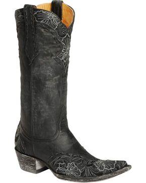 Old Gringo Women's Erin Floral Western Boots, Black, hi-res