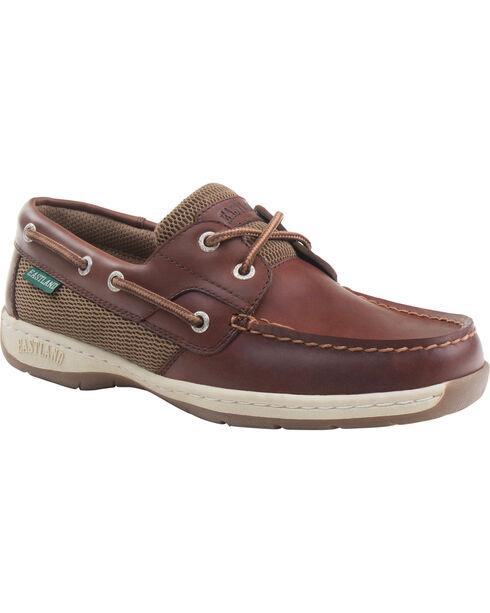 Eastland Women's Chestnut Brown Solstice Boat Shoe Oxfords  , Brown, hi-res