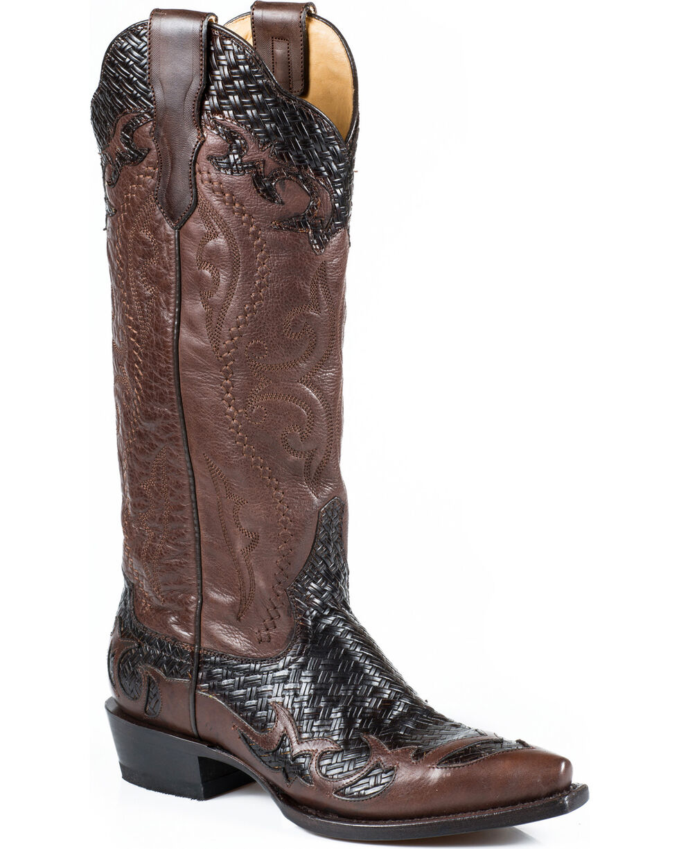 Stetson Women's Bailey Snip Toe Western Boots, Brown, hi-res