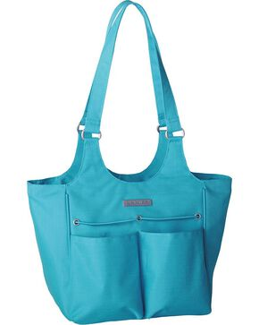 Ariat Mini Carry All Teal Poly Canvas Tote Bag, Turquoise, hi-res