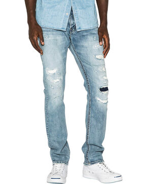Silver Men's Light Indigo Konrad Slim Fit Jeans - Straight Leg , Indigo, hi-res