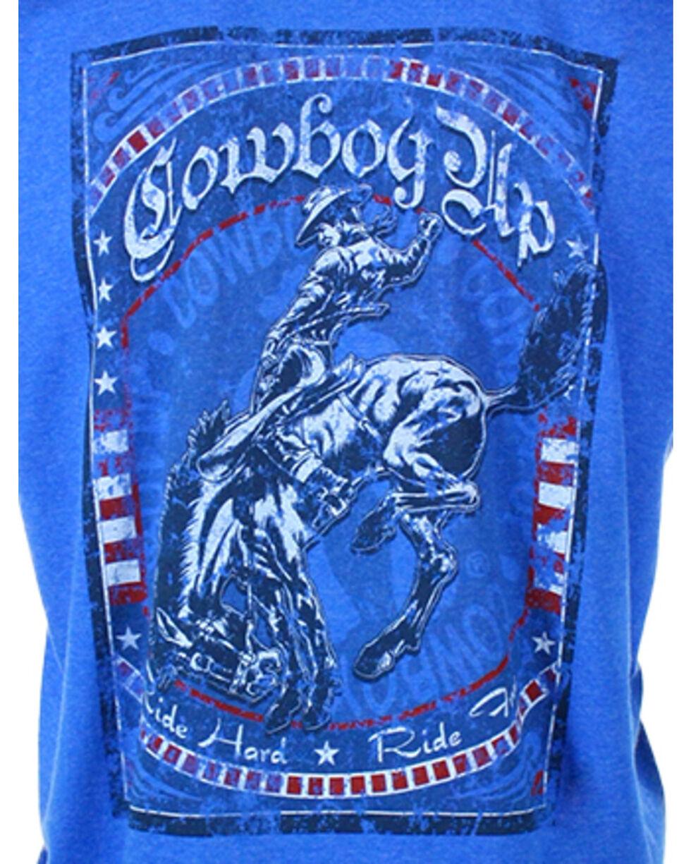 Cowboy Up Men's Ride Hard Short Sleeve T-Shirt, Royal Blue, hi-res